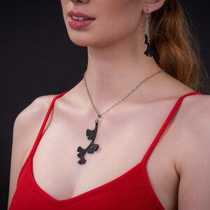 Ginkgo Blatt Halskette aus recyceltem Kautschuk - SAPU