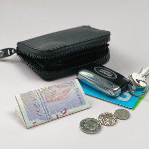 Harper kleine vegane Geldbörse mit Reißverschluss aus recyceltem Kautschuk - Paguro Upcycle