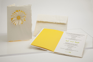 Briefkarte Büttenpapier - Formes