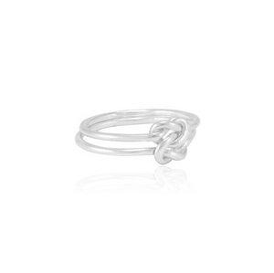 Ring Silber Seemanns-Knoten fein minimalistisch handmade Fair-Trade - pakilia