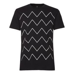 ThokkThokk Thin ZigZag T-Shirt Man White/Black - THOKKTHOKK