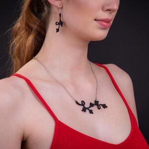 Lethisia Vine Flower Halskette aus recyceltem Kautschuk - SAPU