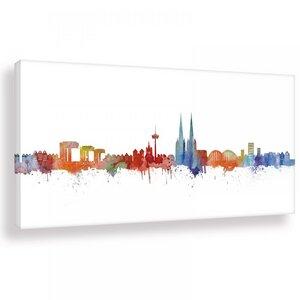 Skyline von München - Light - Wandbild - Kunstdruck - Kunstbruder