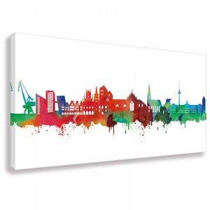 Skyline von Münster- Light - Wandbild - Kunstdruck - Kunstbruder