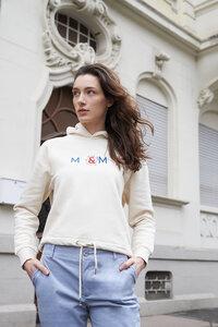 besticktes Sweatshirt mit Kapuze - ME&MAY