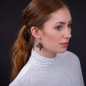 Mars & Venus handgefertigte Ohrringe aus recyceltem Reifenschlauch - SAPU