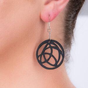 Neptune handgefertigte Ohrringe aus recyceltem Reifenschlauch - SAPU