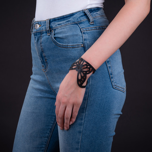 Papillon veganes Armband aus recyceltem Reifenschlauch - Paguro Upcycle