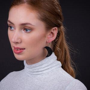 Pisces Fischchen handgefertigte Ohrringe aus recyceltem Reifenschlauch - SAPU