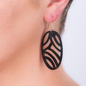 Seraphine I handgefertigte Ohrringe aus recyceltem Reifenschlauch - SAPU