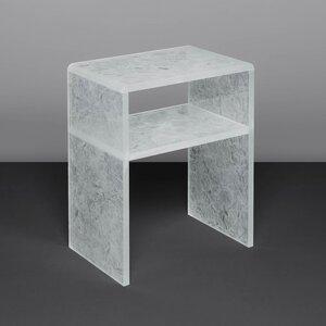 Nachttisch Ablagetisch ZÜRICH aus recycelten Glasscherben - abgerundeter Tisch mit Ablagemöglichkeit - MAGNA Glaskeramik®