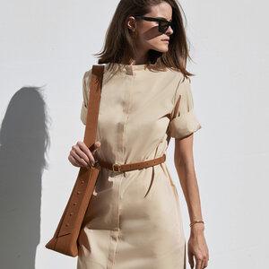 Straight fit Blusenkleid mit Stehkragen - Mila.Vert