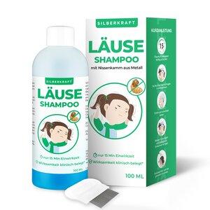 Läuseshampoo 100 ml mit Nissenkamm - für Kinder ab 1 Jahr - Silberkraft