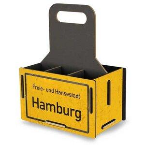 Flaschenträger aus Holz - Flaschenkorb Getränkekorb Bierträger - Werkhaus GmbH