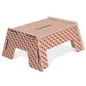 Tritthocker Fußbank Schemel Hopper aus Holz 15,5 x 32 x 27,5 cm - Werkhaus GmbH