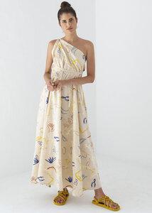 Kleid Maxi Einheitsgröße - Multiposition Dress Long Print - Bio-Baumwolle & Leinen  - Suite 13