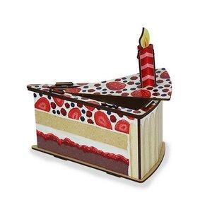 Geschenkverpackung Geschenkbox aus Holz - Torte Kuchen Geburtstag Hochzeit - Werkhaus GmbH