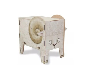 Kinder Hocker aus Holz - Aufbewahrungsbox Kiste Sitzhocker Kinderzimmer Tiere - Werkhaus GmbH