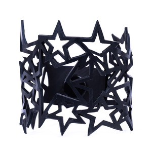 Star veganes Armband aus recyceltem Reifenschlauch - Paguro Upcycle
