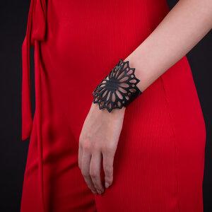 Strawflower veganes Armband aus recyceltem Reifenschlauch - Paguro Upcycle