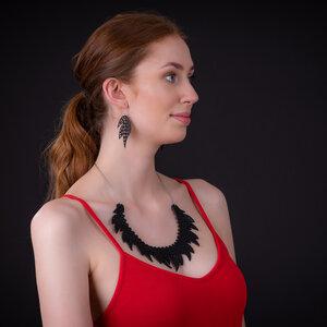 Sunburst handgefertigte Ohrringe aus recyceltem Reifenschlauch - SAPU