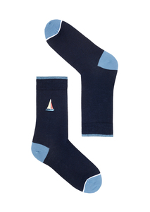 Socken mit Print aus Bio Baumwolle | Basic Socks #SAILINGBOAT | #SHARK | SENNA #BIKE - recolution