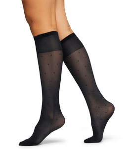Kniestrümpfe Doris Dots aus Recycling-Material - Swedish Stockings