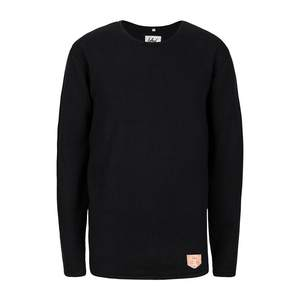 Knitted Linen Jumper Black - bleed