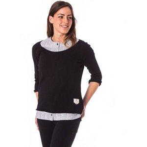 Knitted Linen Jumper Ladies Black - bleed