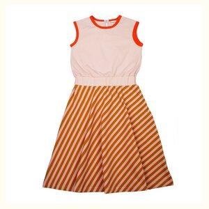 Baba Kidswear Maxikleid Querstreifen Pink Bio-Baumwolle - Baba Kidswear
