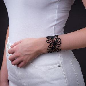 Violets veganes Armband aus recyceltem Reifenschlauch - SAPU