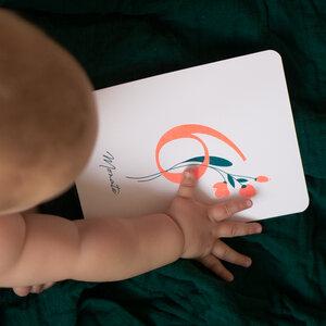 """Baby Meilensteinkarten / Monatskarten """"Wild Flower"""" für die ersten 12 Monate - december and june"""