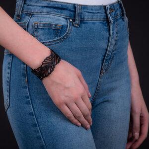 Weave handgefertigtes Armband aus recyceltem Reifenschlauch - SAPU