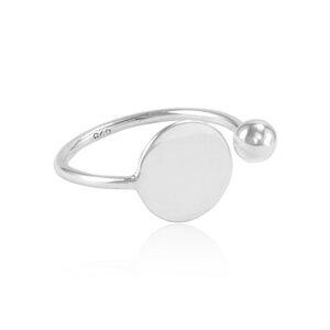 Ring Silber geflochtener Kreis fein minimalistisch handmade Fair-Trade - pakilia