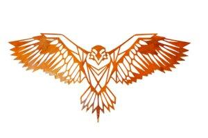 Großer Adler Edelrost 96 cm x 46 cm| Gartendeko aus Metall | Wanddekoration aus Metall - Pandas Garden
