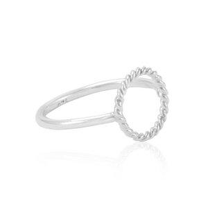 Silber Ring Kreis geflochten Fair-Trade und handmade - pakilia