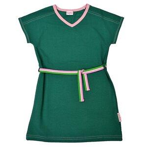 Baba Kidswear Vneck Kleid grün rosa Bio-Baumwolle - Baba Kidswear