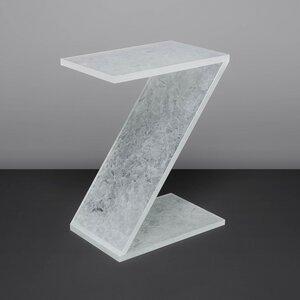 Beistelltisch Couchtisch HELSINKI aus recyceltem Weißglasabfall - Tisch in Z-Form - MAGNA Glaskeramik®
