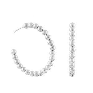 Ohrringe Silber Silberkugeln Perlen Creolen schick handmade Fair-Trade - pakilia