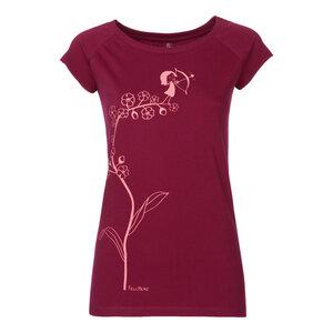 FellHerz Vergissmeinnicht Cap Sleeve Woman T-Shirt coral/ruby - FellHerz