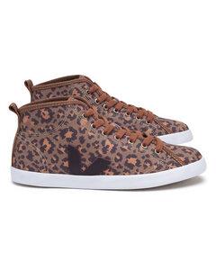 Taua Mid Canvas Leopard Burgundy - Veja