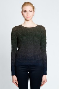 ARAN GREEN ALPACA SWEATER - Misericordia