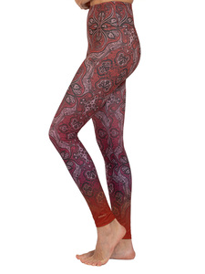 Yoga Leggings ORNAMENT aus Komfort- Stretch mit Tasche - Magadi