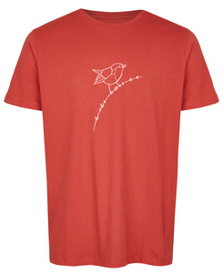 Basic Bio T-Shirt (men) Nr.2 Rotkehlchen - Brandless
