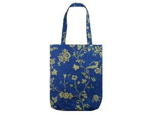 Schultertasche Blau Filigran, Upcycling von Leesha - Leesha
