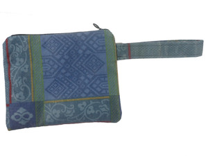 Schminktäschchen Blaue Muster, Upcycling von Leesha Design - Leesha