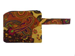 Leesha WILDe Upcycling Schminktäschchen mit Reißverschluss Herbstfarben - Leesha