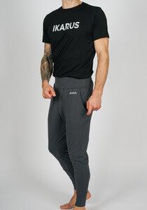 "Männer Yoga Outfit aus Bio-Baumwolle & Modal ""Prometheus"" Schwarz/dunkelgrau Bold Print - IKARUS yoga wear for men"