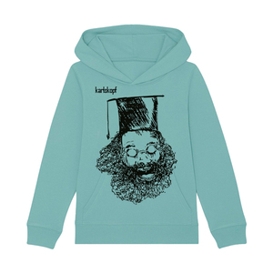 Bedruckter Kinder Hoodie aus Bio-Baumwolle UNIABSCHLUSS - karlskopf