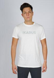 "Männer Yoga Outfit aus Bio-Baumwolle & Modal ""Prometheus"" weiss/grau mit Bold Print - IKARUS yoga wear for men"